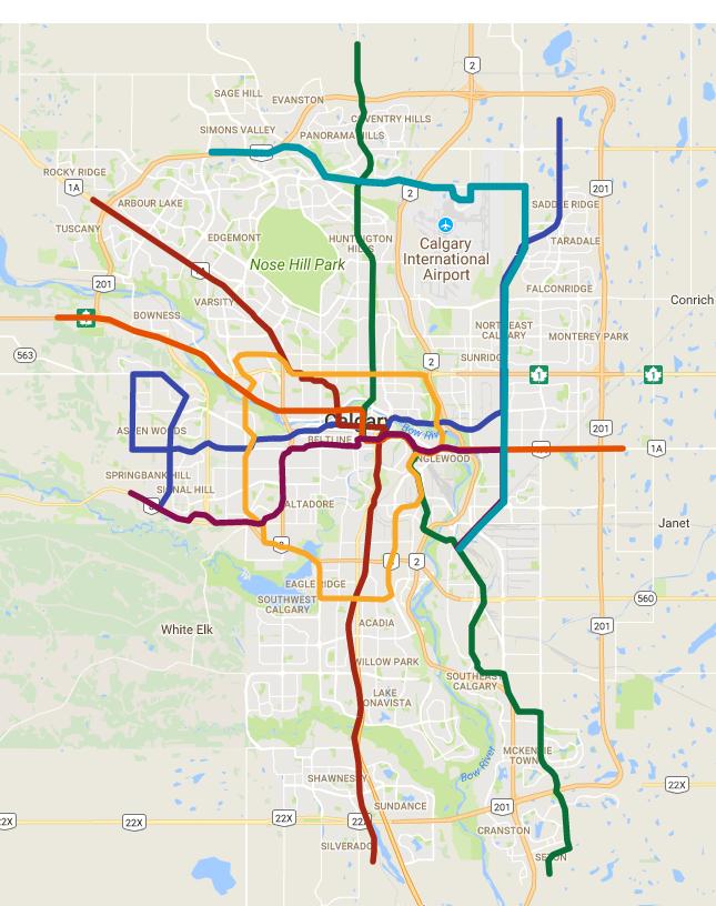 Calgary Subway Map.Calgary Transit Fantasy Maps Page 2 Skyrisecities
